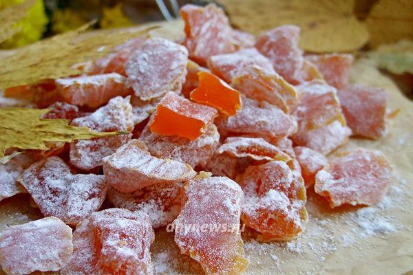 цукаты из тыквы в домашних условиях
