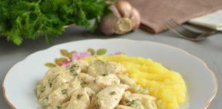 Курица тушеная в кефире на сковороде - рецепт