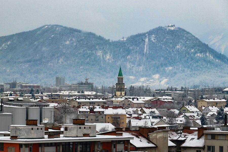 Зимняя Любляна