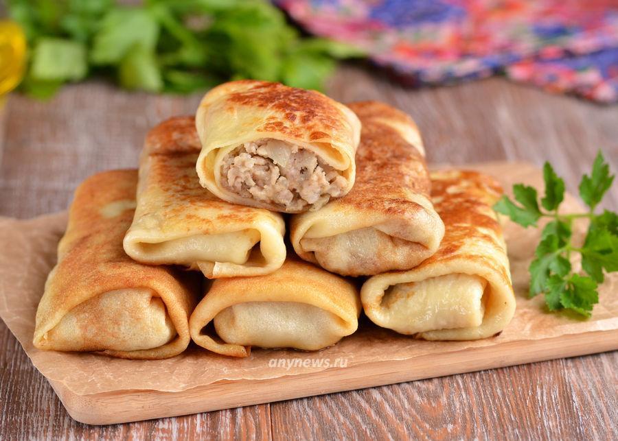 фаршированные блины с мясом - рецепт