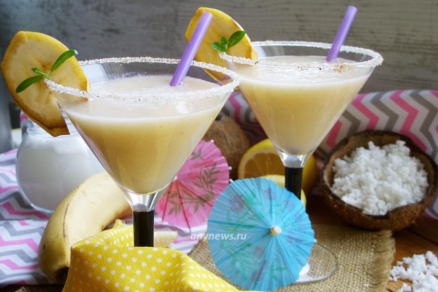 безалкогольный коктейль с кокосовым молоком - рецепт