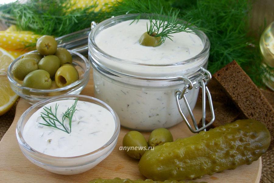 соус тартар с солеными огурцами - рецепт