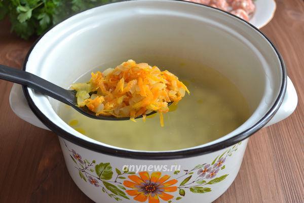 Быстрый суп с фрикадельками и картошкой