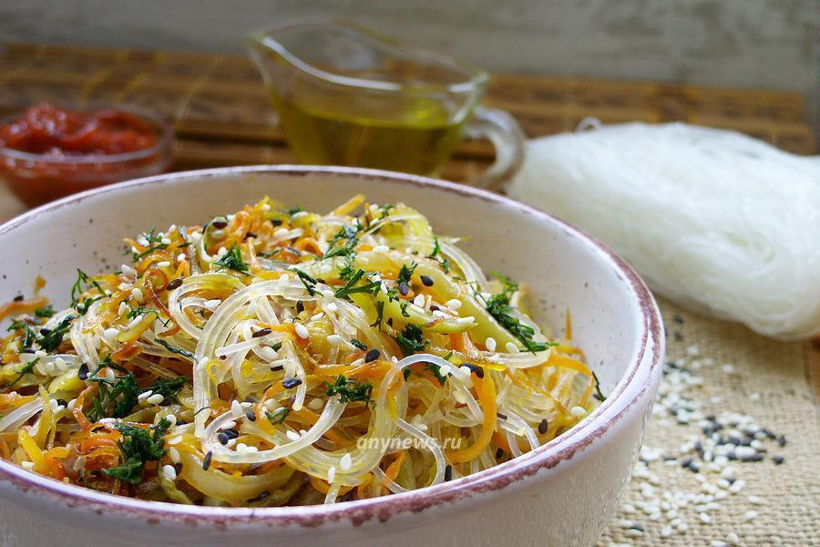Фунчоза с овощами - рецепт
