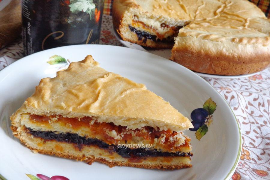 Пирог с курагой и черносливом - рецепт