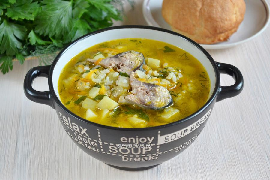 суп из скумбрии с рисом - рецепт