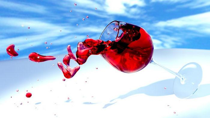 Удаление винных пятен