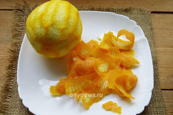 Как сделать цедру апельсина в домашних условиях