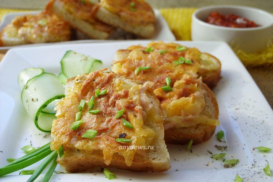 бутерброды с колбасой сыром и яйцом - рецепт