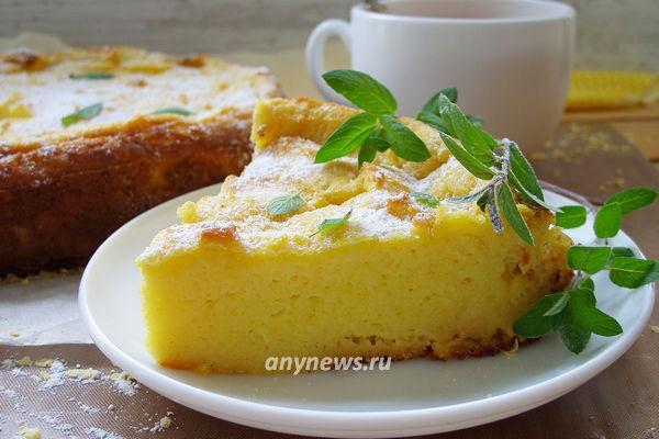 Пирог из кукурузной муки - рецепт