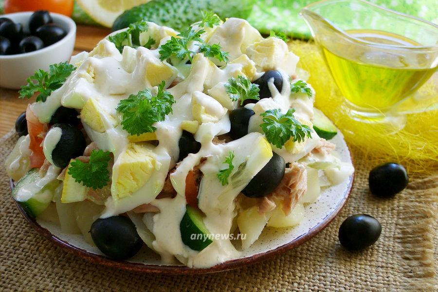 Салат с тунцом и картофелем - рецепт