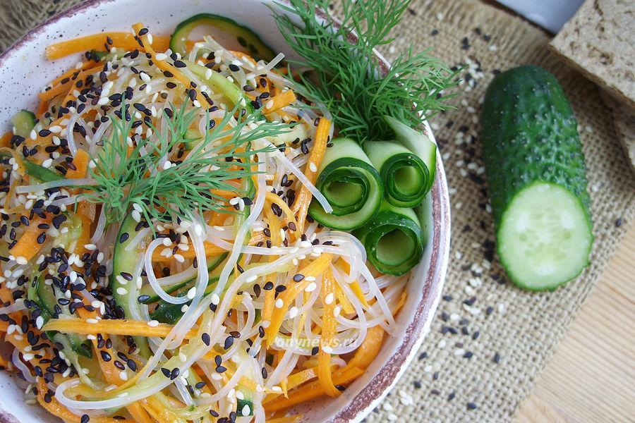 Фунчоза с овощами по-корейски - рецепт