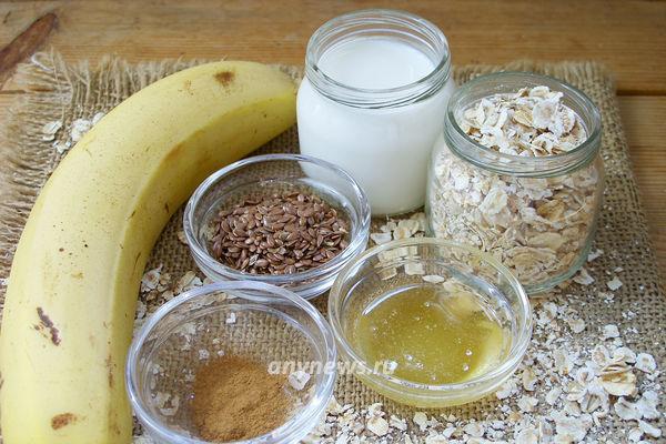 Смузи с овсянкой и бананом на завтрак