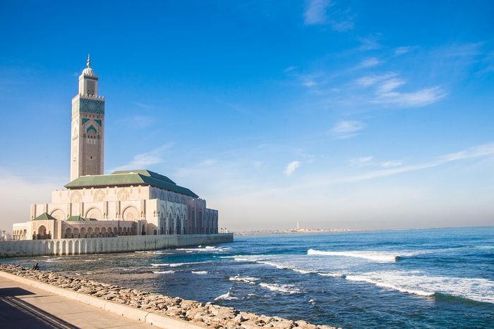 Касабланка, мечеть на берегу моря