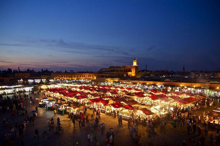 Мараккеш, вечерний рынок