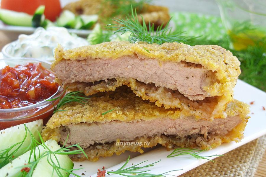 Шницель из говядины - рецепт