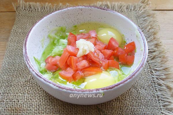 Омлет с кабачками и помидорами