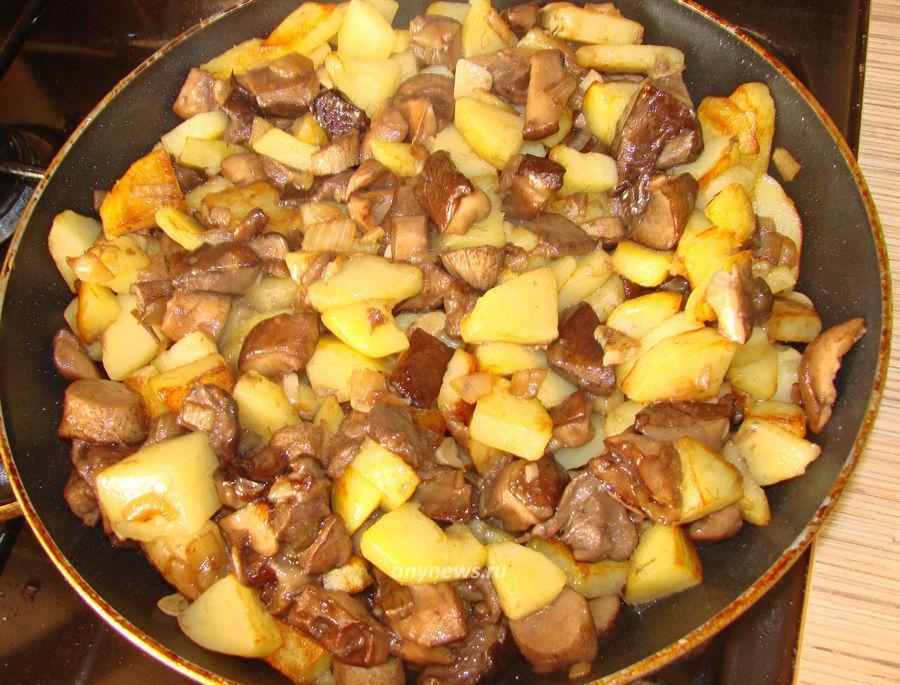 Жареная картошка с подберезовиками - рецепт