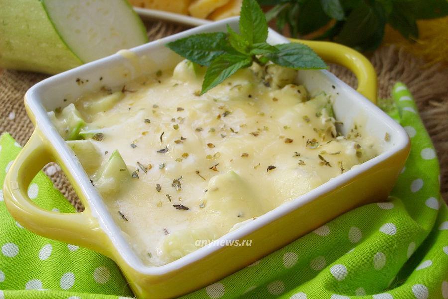Кабачки с сыром в микроволновке - рецепт