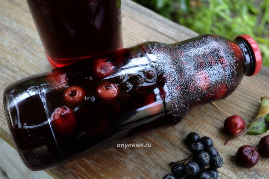 Компот из черноплодной рябины на зиму - рецепт