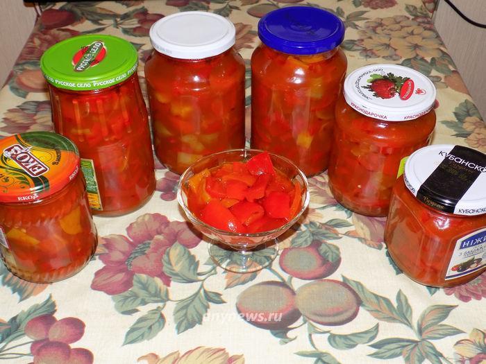 Лечо из болгарского перца и томатов