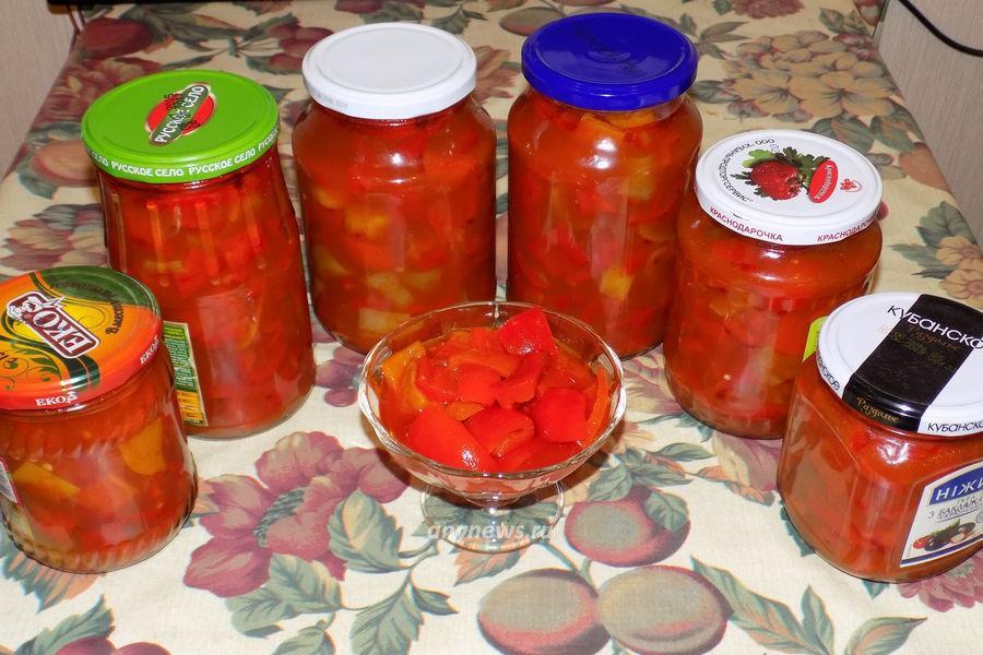 Лечо из болгарского перца - рецепт