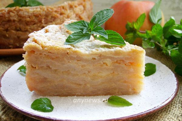 насыпной яблочный пирог Три стакана - рецепт