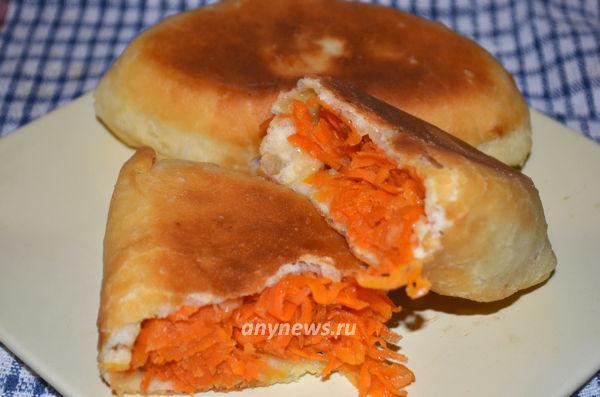 Пирожки с морковью жареные на сковороде