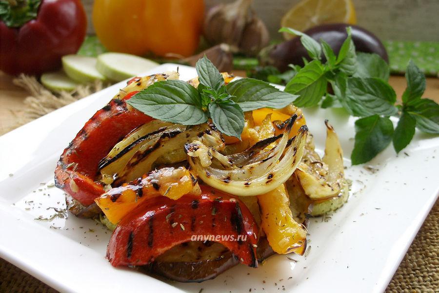 Салат из овощей на гриле - рецепт