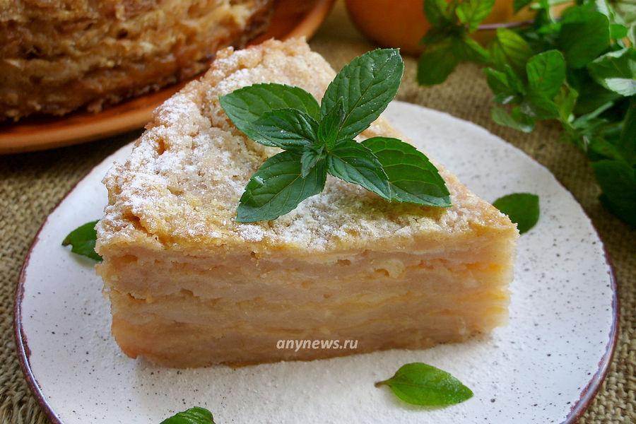 насыпной яблочный пирог Три стакана с манкой