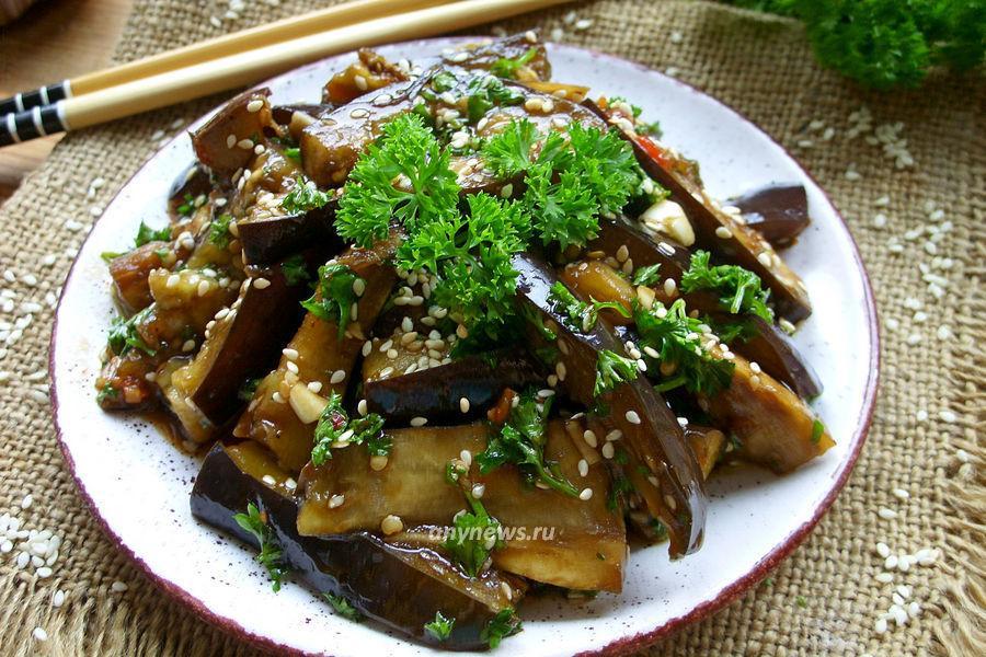 баклажаны по-корейски быстрого приготовления - рецепт