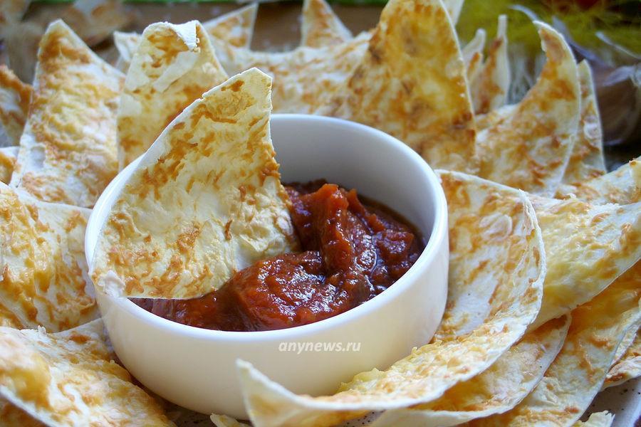 чипсы из готового лаваша с сыром - рецепт