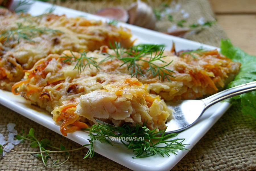 Филе карпа в духовке с овощами - рецепт
