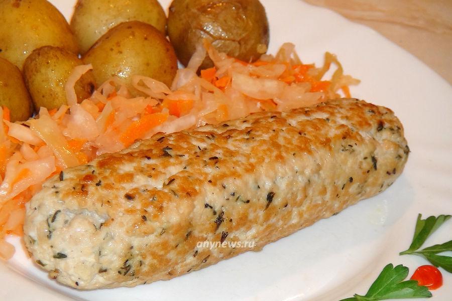 Домашняя колбаса из индейки - рецепт