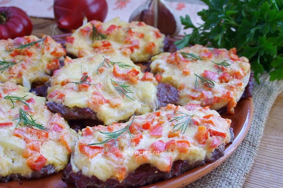 Отбивные из говядины в духовке - рецепт