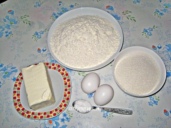 """Песочное печенье """"Через мясорубку"""" - ингредиенты"""