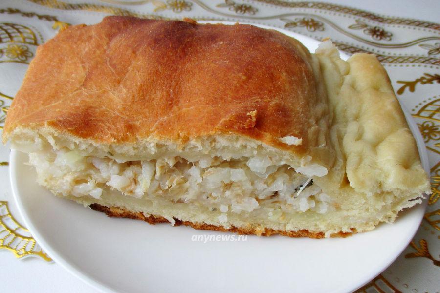 пирог с консервированной горбушей - рецепт