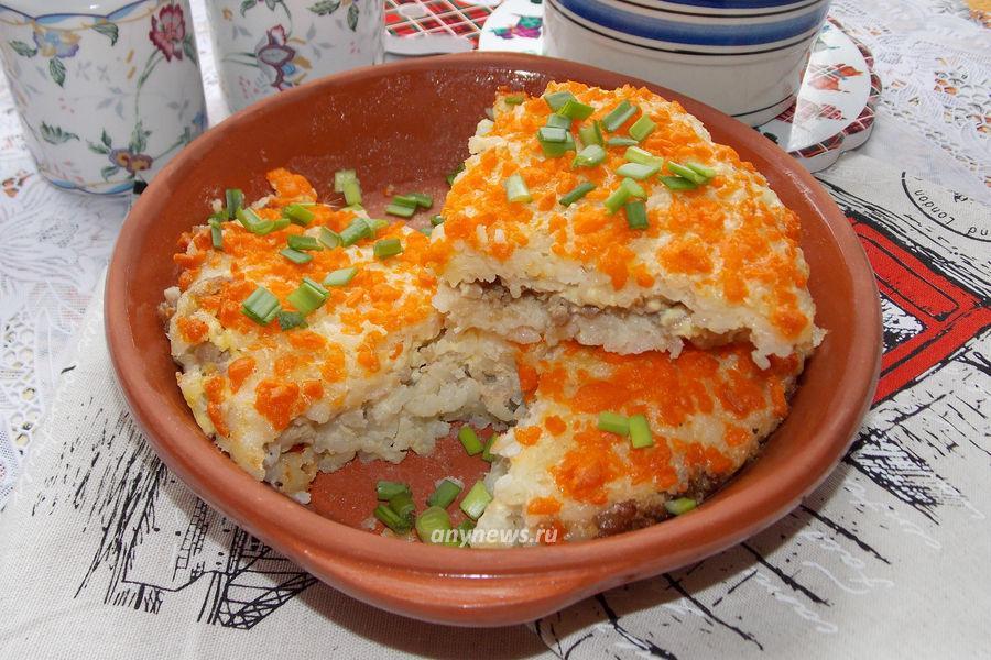 Рисовая запеканка с фаршем - рецепт