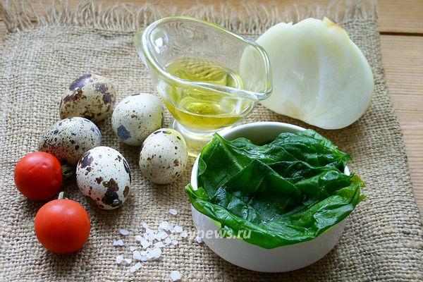 Яичница со шпинатом - ингредиенты