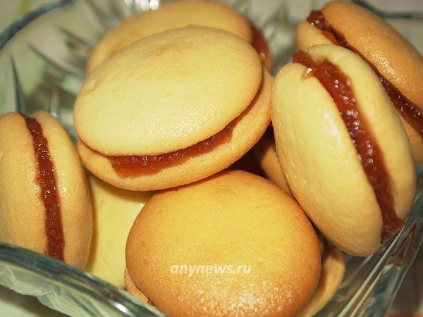 бисквитное печенье с джемом