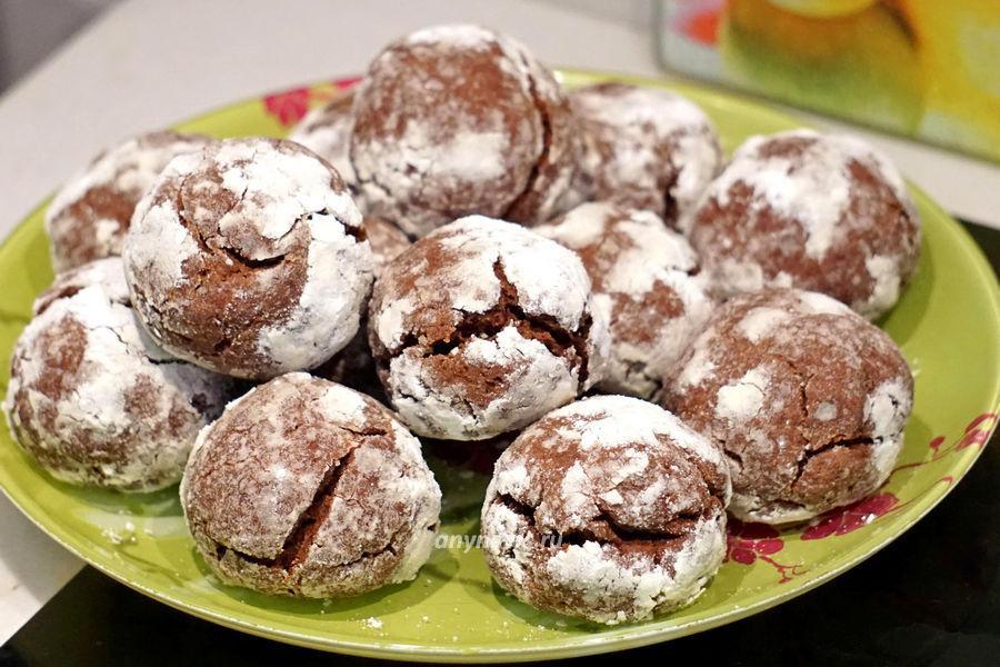 шоколадное печенье с трещинками - рецепт