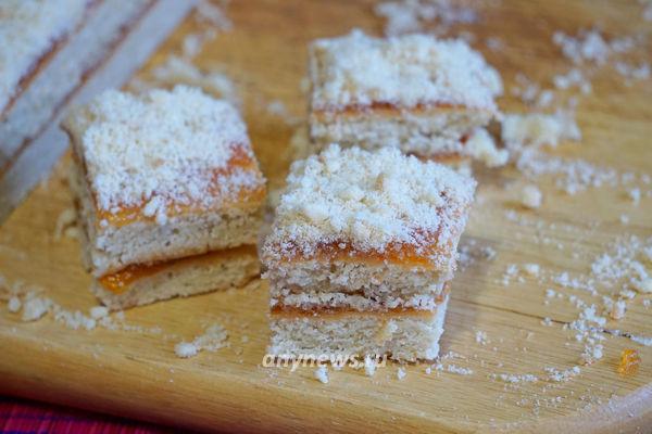 Песочное пирожное с повидлом как в детстве
