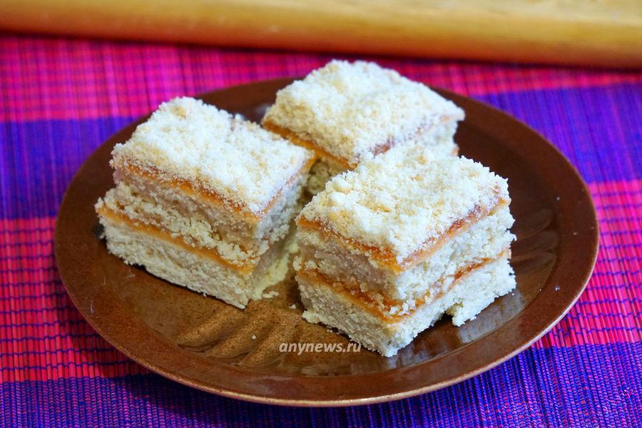 Песочное пирожное с повидлом как в детстве - рецепт