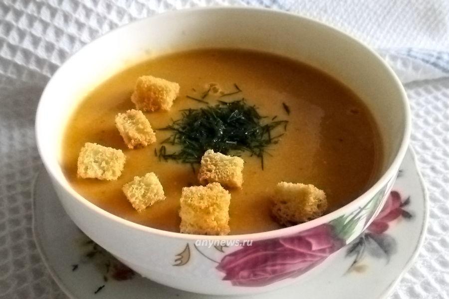 Суп-пюре из красной чечевицы - рецепт