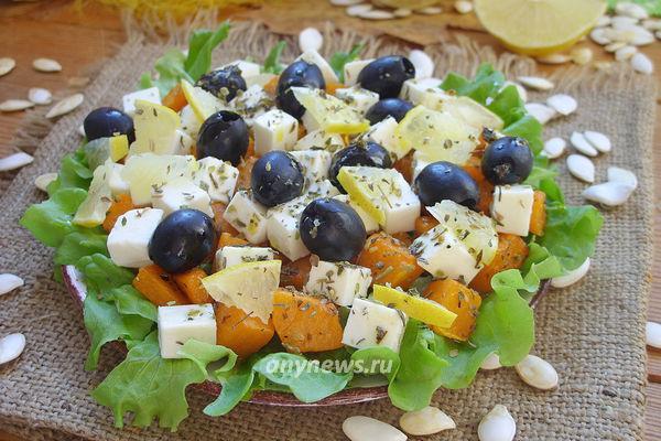 Салат из сырой тыквы с сыром
