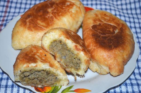 Начинка для пирожков из печени и лука