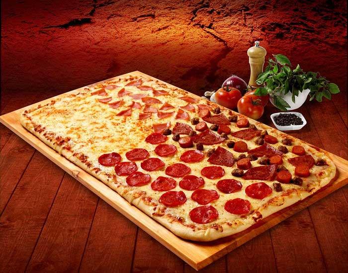 Вариант пиццы «Четыре сезона»