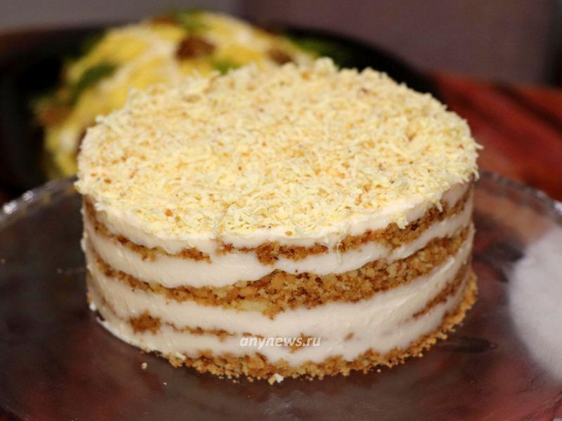 Торт Пломбир без выпечки - рецепт
