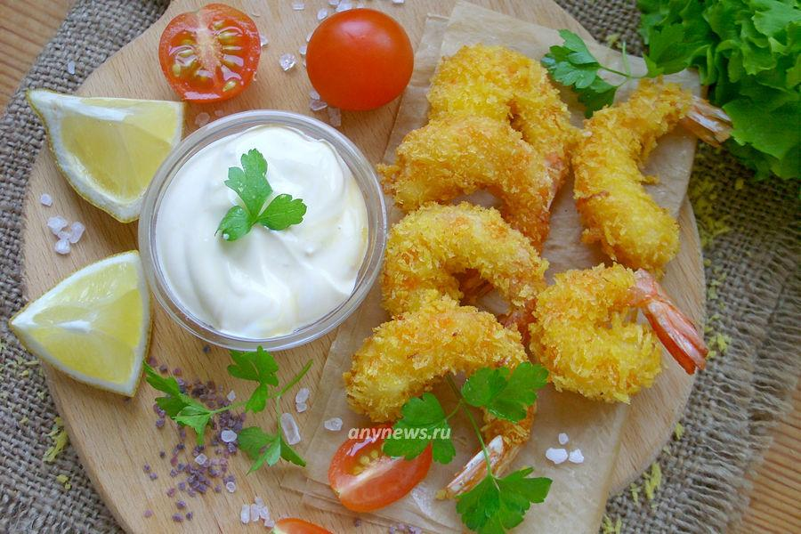 Креветки темпура в кляре - рецепт