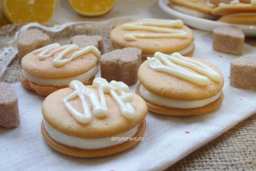 песочное печенье с кремом - рецепт